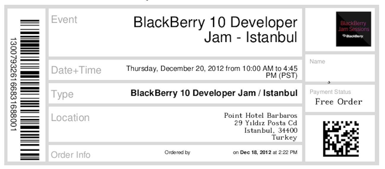 BlackBerry 10 Developer Jam