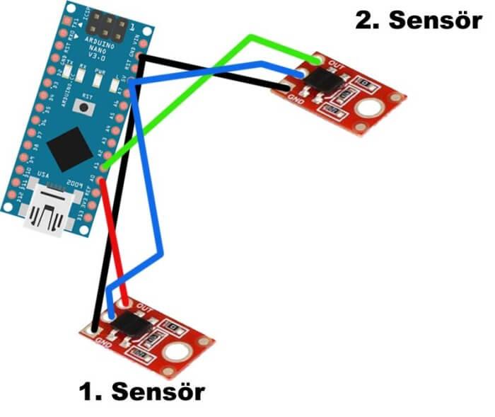 Mini Sumo Robot sensör yerleşimi