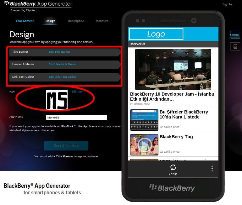 BlackBerry App Generator ile uygulama geliştirmek çok kolay!