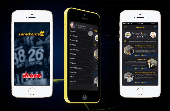 Fenerbahçem uygulamasından bazı ekran görüntüleri
