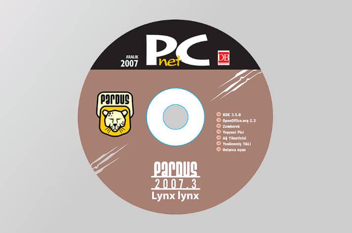 PCnet Aralık 2007 sayısıyla dağıtılan Pardus 2007.3 Kurulum CD'si