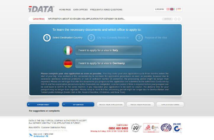 iDATA web sitesi