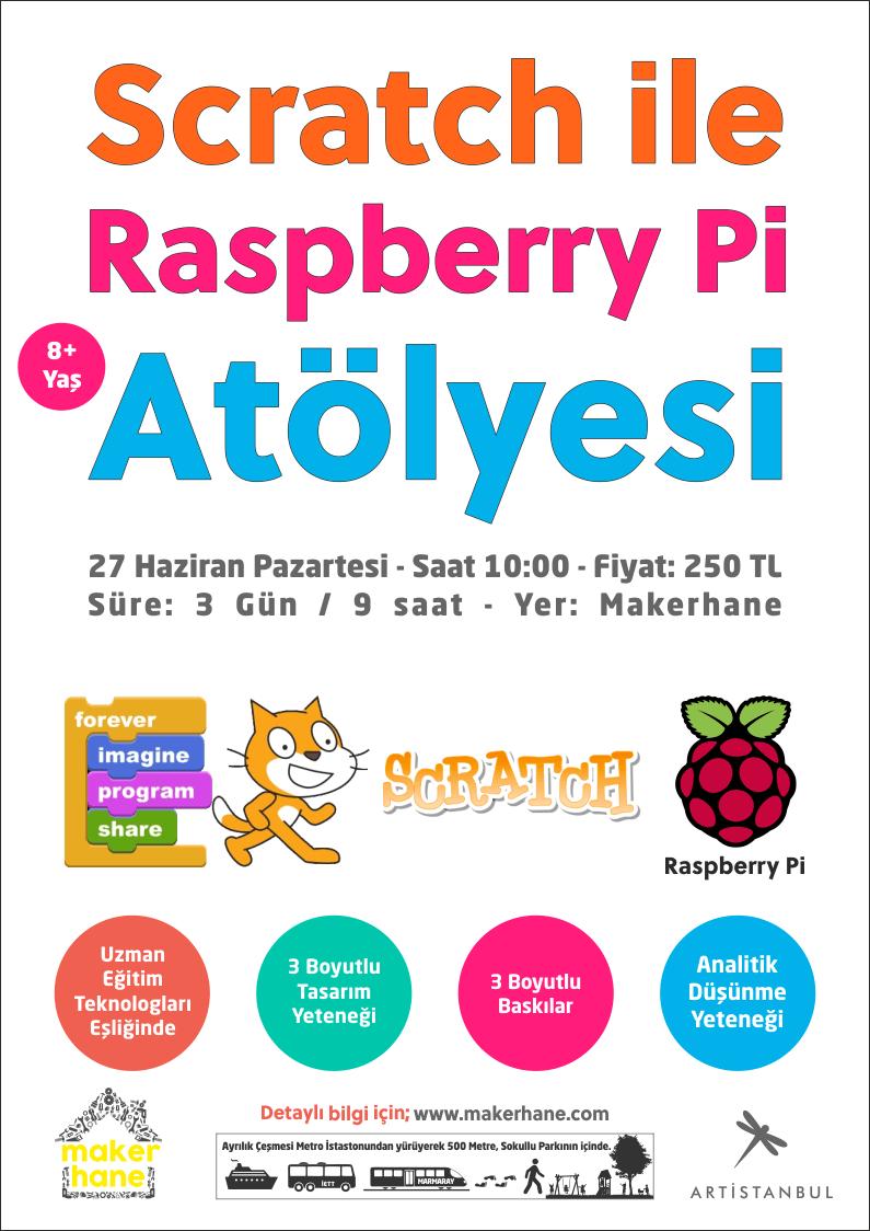 Makerhane Yaz Kampı ve Scratch ile Raspberry Pi