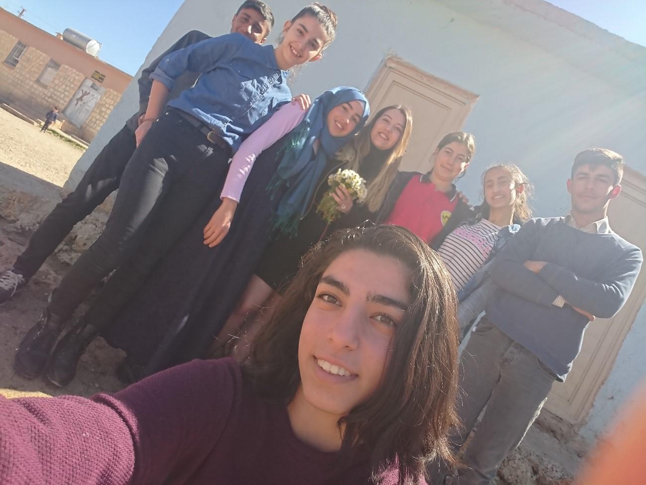 Öğrencilerimle selfie keyfi