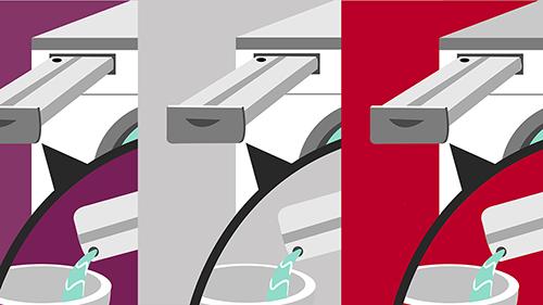 Arçelik Destek ve Bilgi Merkezi görsellerindeki renk seçim çalışmaları