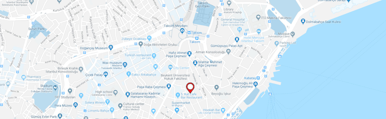 Artistanbul'un yeni ofisinin haritası