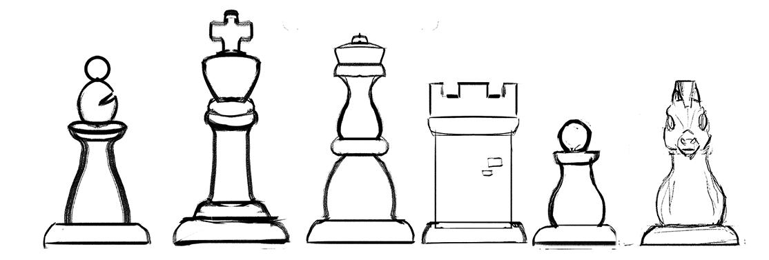 Arçelik 3D Printer için tasarladığımız satranç takımının ilk taslağı