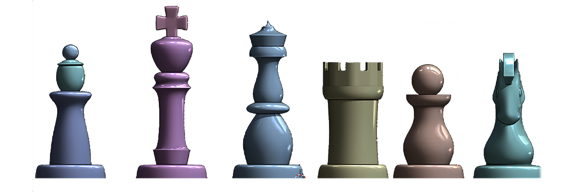 Arçelik 3D Printer için tasarladığımız satranç takımı modelleri