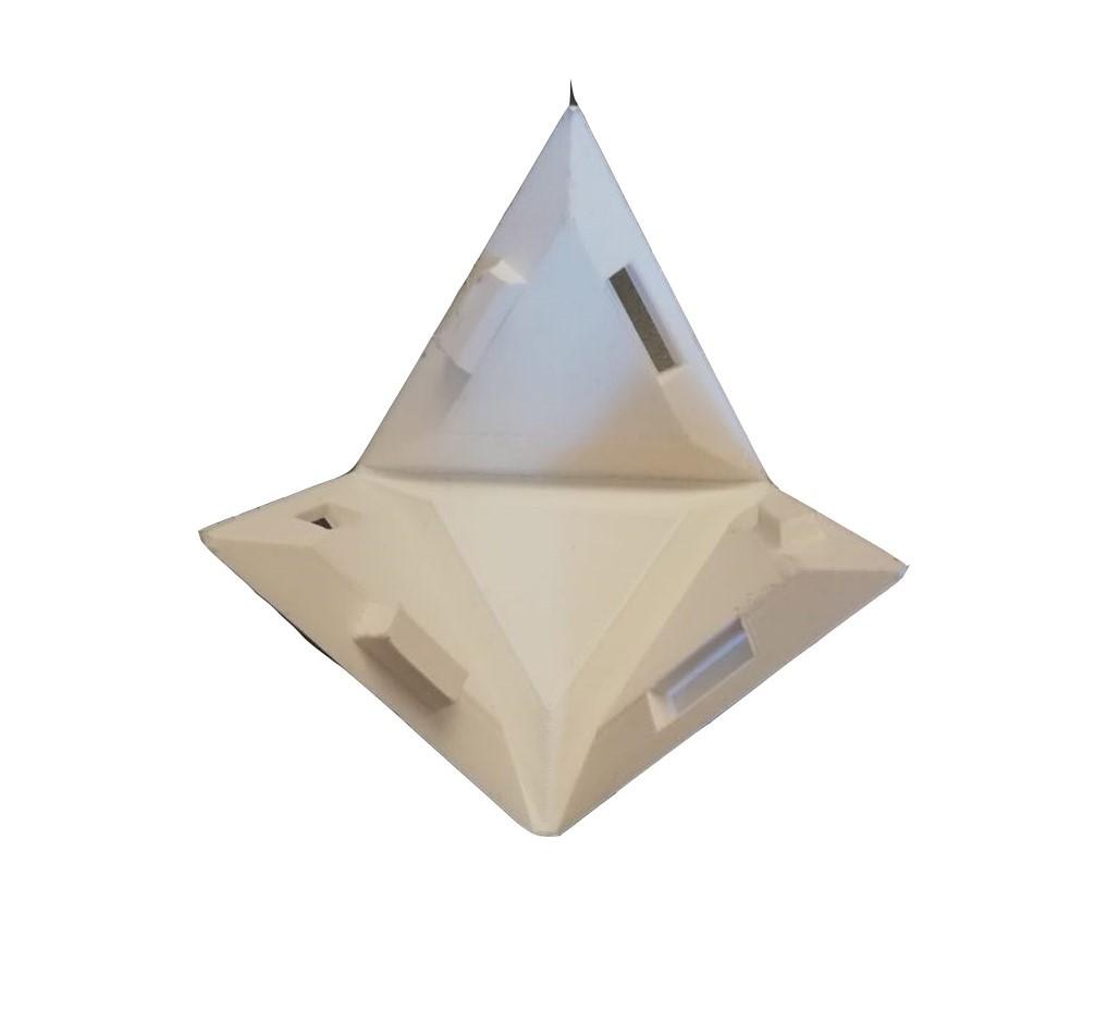 Staj sırasında yapılan piramitin açık hali