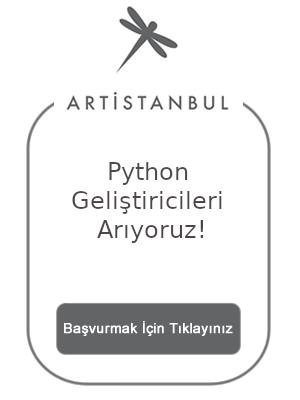 Artistanbul firmasında Python kariyer olanağı