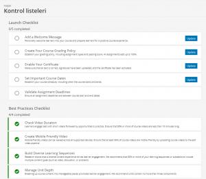 Juniper sürümünde kontrol listeleri