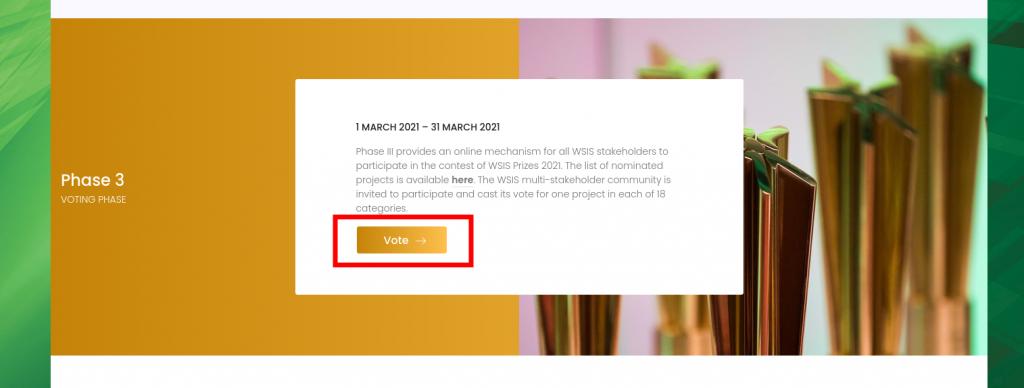 WSIS Ödülleri web sitesi